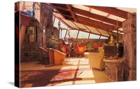 Interior Taliesin--Stretched Canvas Print