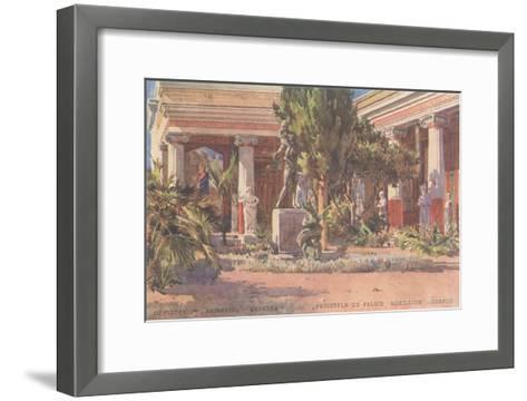Ancient Greek Courtyard on CorfuArt--Framed Art Print