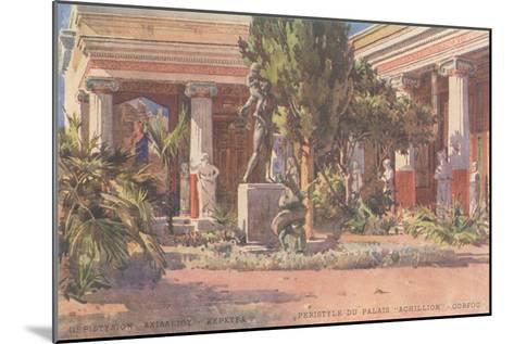 Ancient Greek Courtyard on CorfuArt--Mounted Art Print