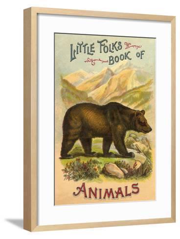 Bear on Book Cover--Framed Art Print