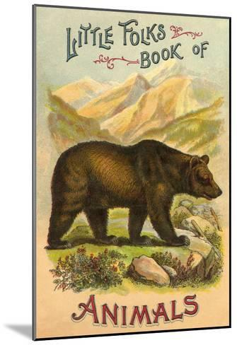 Bear on Book Cover--Mounted Art Print