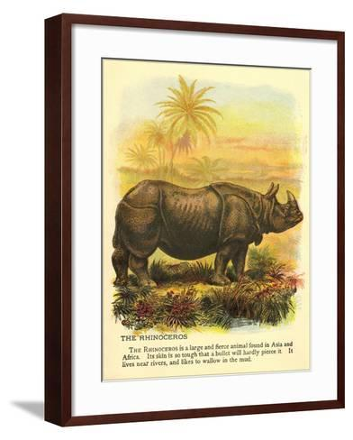 Rhinoceros--Framed Art Print
