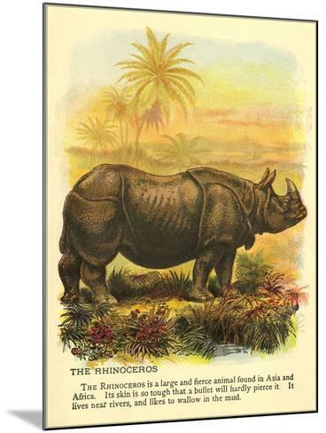 Rhinoceros--Mounted Art Print