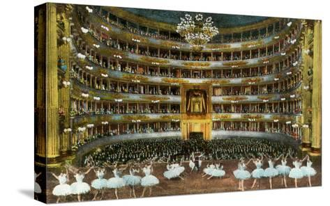 Ballet at La Scala--Stretched Canvas Print