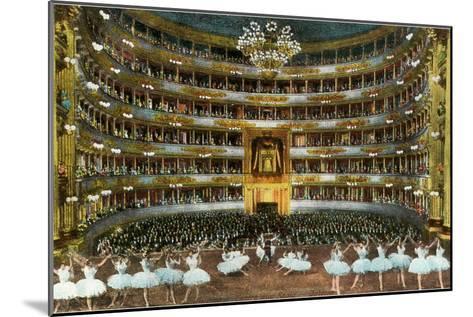 Ballet at La Scala--Mounted Art Print