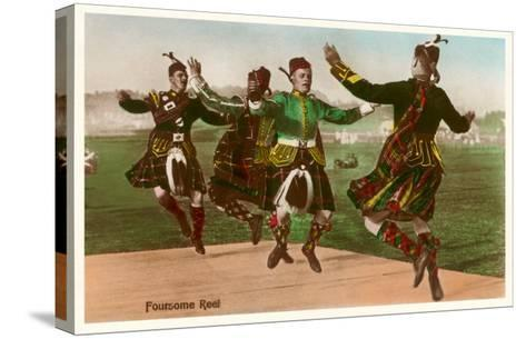 Four Highland Dancers in Kilts--Stretched Canvas Print