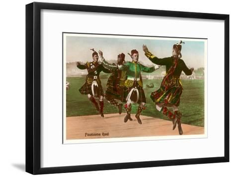 Four Highland Dancers in Kilts--Framed Art Print