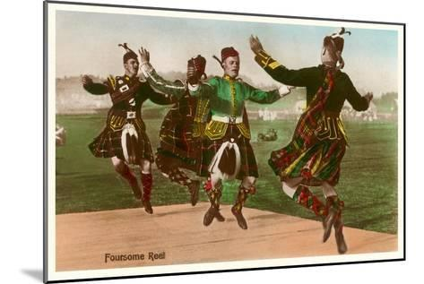 Four Highland Dancers in Kilts--Mounted Art Print