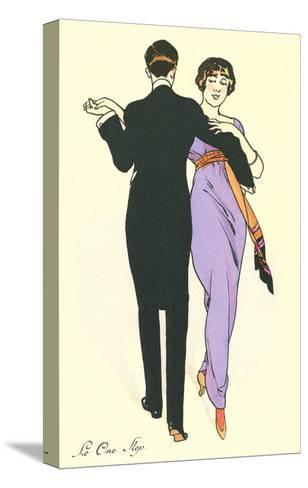 Tango Dancers--Stretched Canvas Print