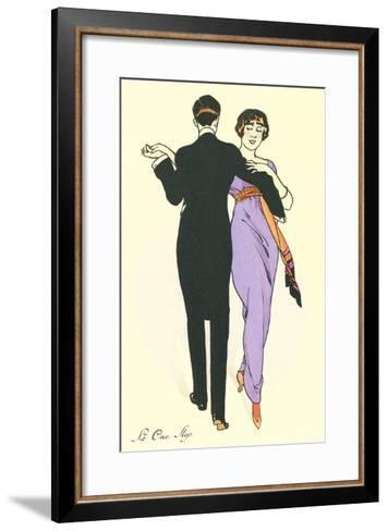Tango Dancers--Framed Art Print