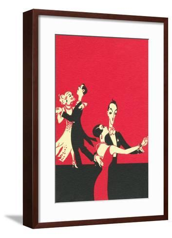 Two Couples Ballroom Dancing--Framed Art Print