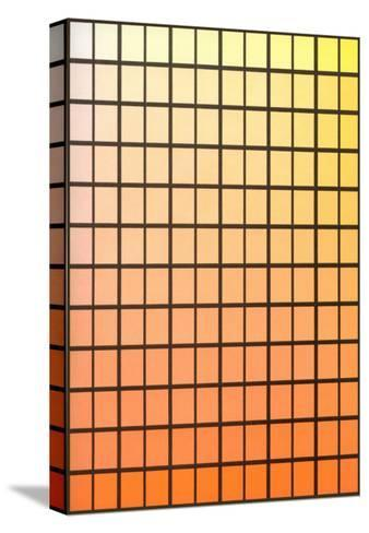 Squares with Gradated Orange to Yellow--Stretched Canvas Print