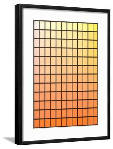 Squares with Gradated Orange to Yellow--Framed Art Print