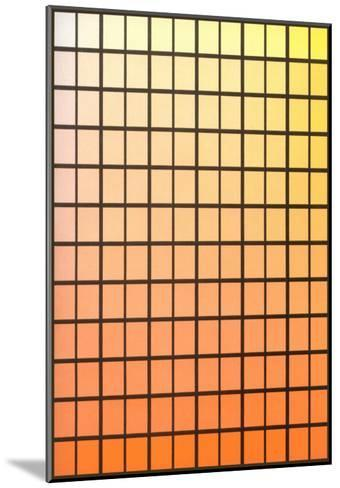 Squares with Gradated Orange to Yellow--Mounted Art Print