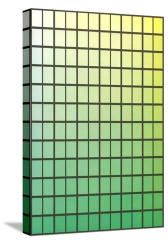 Squares with Gradated Greens--Stretched Canvas Print