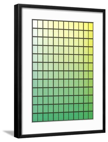 Squares with Gradated Greens--Framed Art Print
