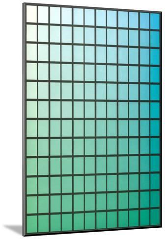 Squares with Gradated Green to Blue--Mounted Art Print