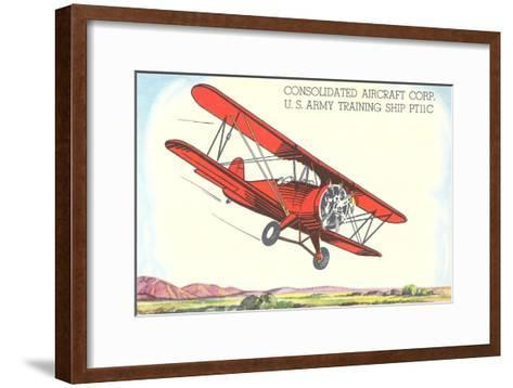 Army Training Biplane PT11C--Framed Art Print