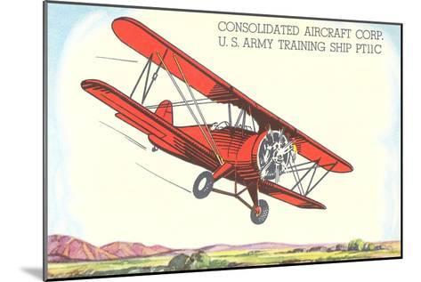 Army Training Biplane PT11C--Mounted Art Print