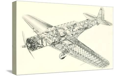 Cutaway Illustration of Aircraft--Stretched Canvas Print