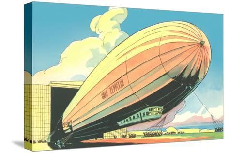 Graf Zeppelin at the Hangar--Stretched Canvas Print