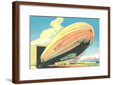 Graf Zeppelin at the Hangar--Framed Art Print