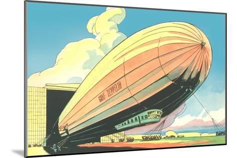 Graf Zeppelin at the Hangar--Mounted Art Print