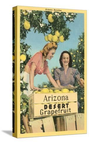 Women with Grapefruit, Arizona--Stretched Canvas Print