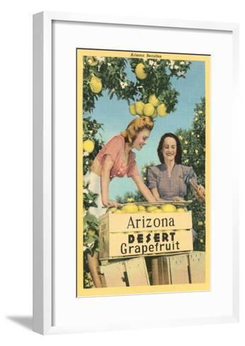 Women with Grapefruit, Arizona--Framed Art Print