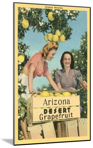 Women with Grapefruit, Arizona--Mounted Art Print