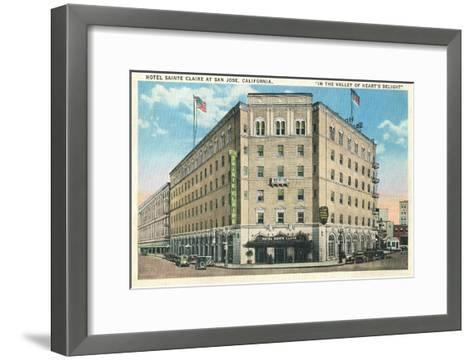 Hotel Sainte Claire, San Jose, California--Framed Art Print