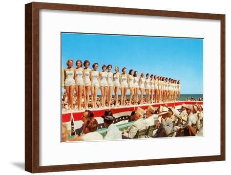 Fifties Beauty Contest--Framed Art Print