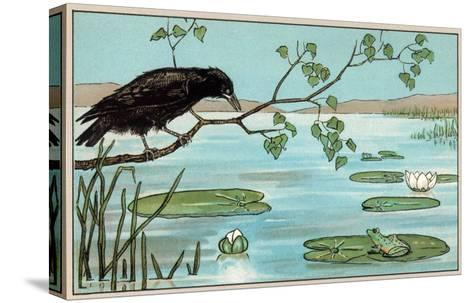 The Crow and the Frog--Stretched Canvas Print