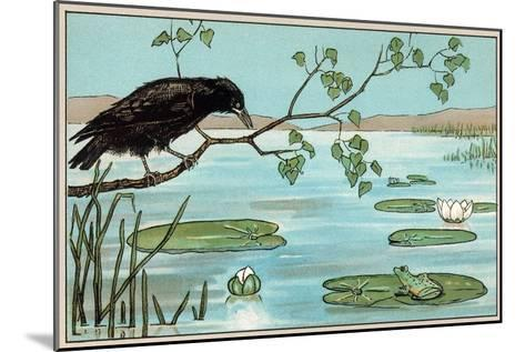 The Crow and the Frog--Mounted Art Print