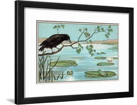 The Crow and the Frog--Framed Art Print