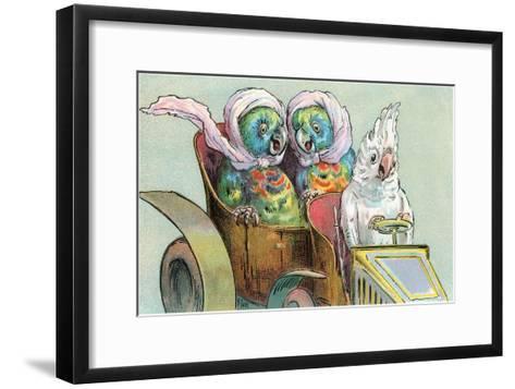 Cockatoo Driving Parrots--Framed Art Print
