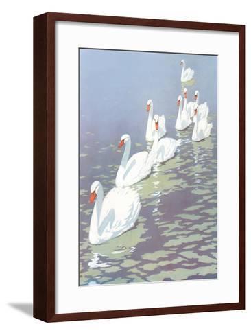Swans in Line--Framed Art Print