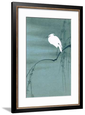 Egret on Branch--Framed Art Print