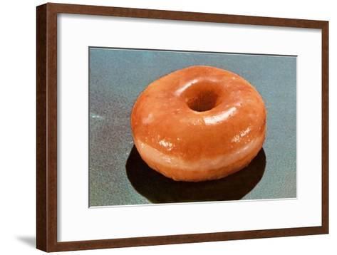 Glazed Donut--Framed Art Print