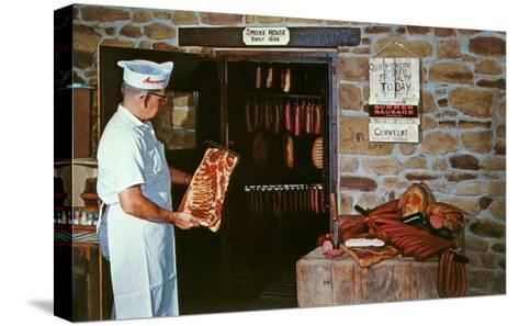 Smoking Meat--Stretched Canvas Print