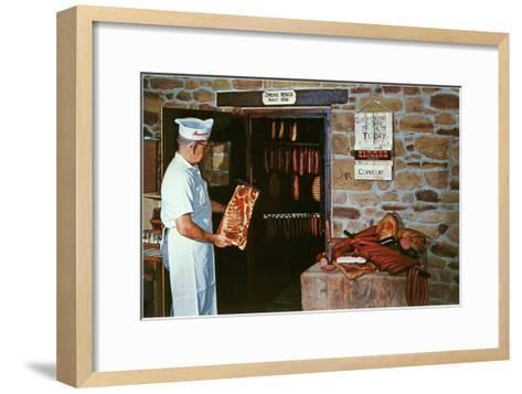 Smoking Meat--Framed Art Print