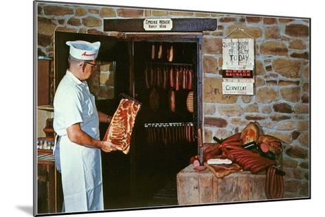 Smoking Meat--Mounted Art Print