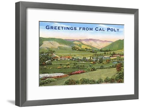 Greetings from Cal Poly, San Luis Obispo--Framed Art Print