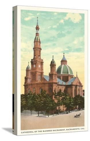 Blessed Sacrament Cathedral, Sacramento--Stretched Canvas Print