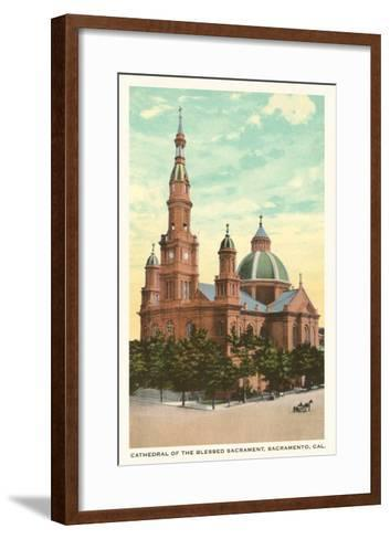 Blessed Sacrament Cathedral, Sacramento--Framed Art Print
