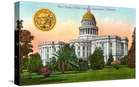 Capitol Building, Sacramento--Stretched Canvas Print