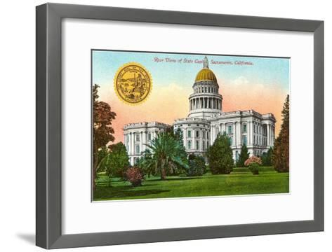 Capitol Building, Sacramento--Framed Art Print