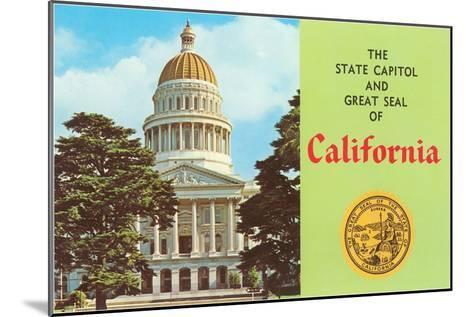 Capitol and Seal, Sacramento--Mounted Art Print
