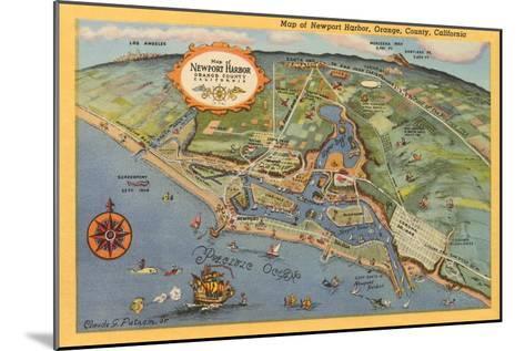Map of Newport Harbor--Mounted Art Print