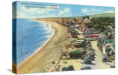 Crystal Cove Beach, Highway 101, Laguna Beach, California--Stretched Canvas Print